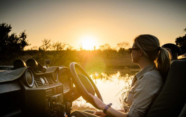 What is the benefit of a private guided safari?